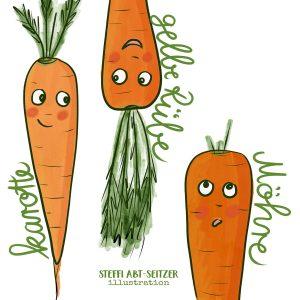 Bild von Karotten, Rüben und Möhren