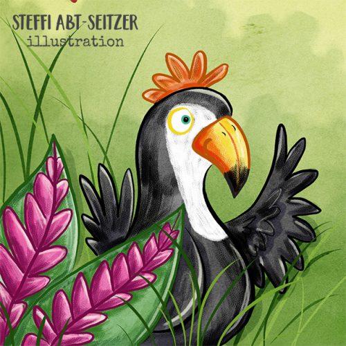 Steffi Abt-Seitzer Illustration Tukan winkt