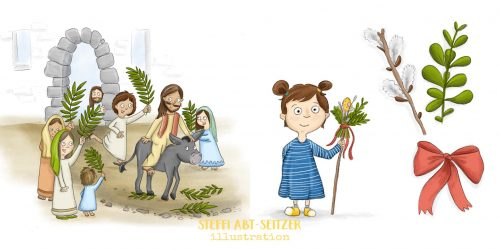 Steffi Abt-Seitzer Illustration - Palmsonntag