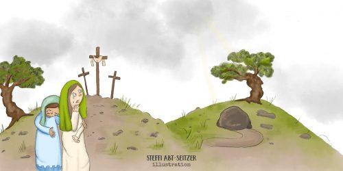 Steffi Abt-Seitzer - Jesu Tod Kreuzigung Höhlengrab