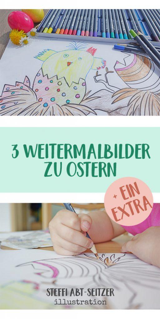 Pinterest Pin Weitermalbild zu Ostern