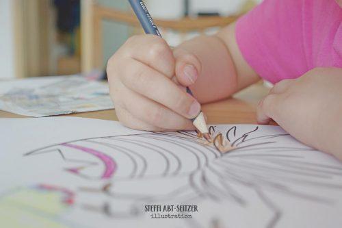 Kind malt aus Steffi Abt-Seitzer Weitermalbild