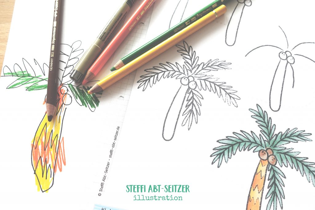 Zeichenanleitung Palme