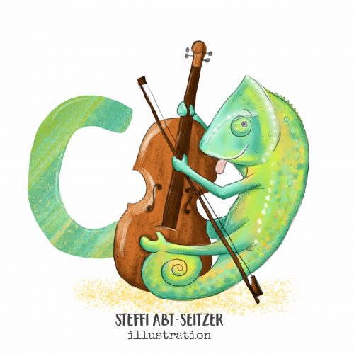 Steffi Abt-Seitzer Illustration Chamäleon ABC Chello