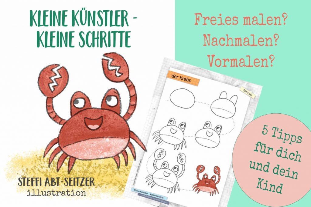 Steffi Abt-Seitzer Illustration Kleine Künstler Kleine Schritte Der Krebs
