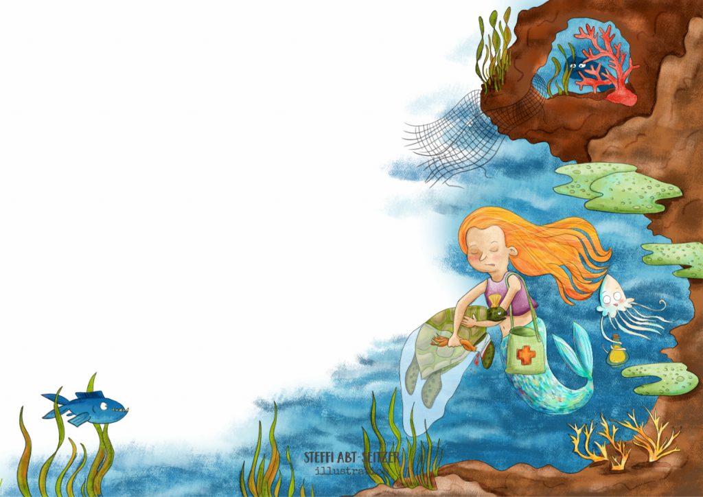 Steffi Abt-Seitzer Illustration Mehrjungfrau 2019 Kinderbuch