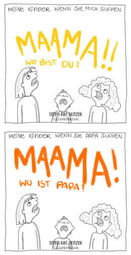 Steffi Abt Seitzer Illustration Comic Familienleben Illustratorin Ulm Augsburg Günzburg Bayern