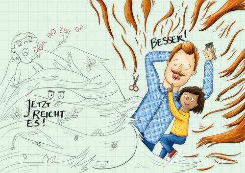 Steffi Abt-Seitzer Illustration Papas Bart Günzburg Augsburg Bayern Ulm